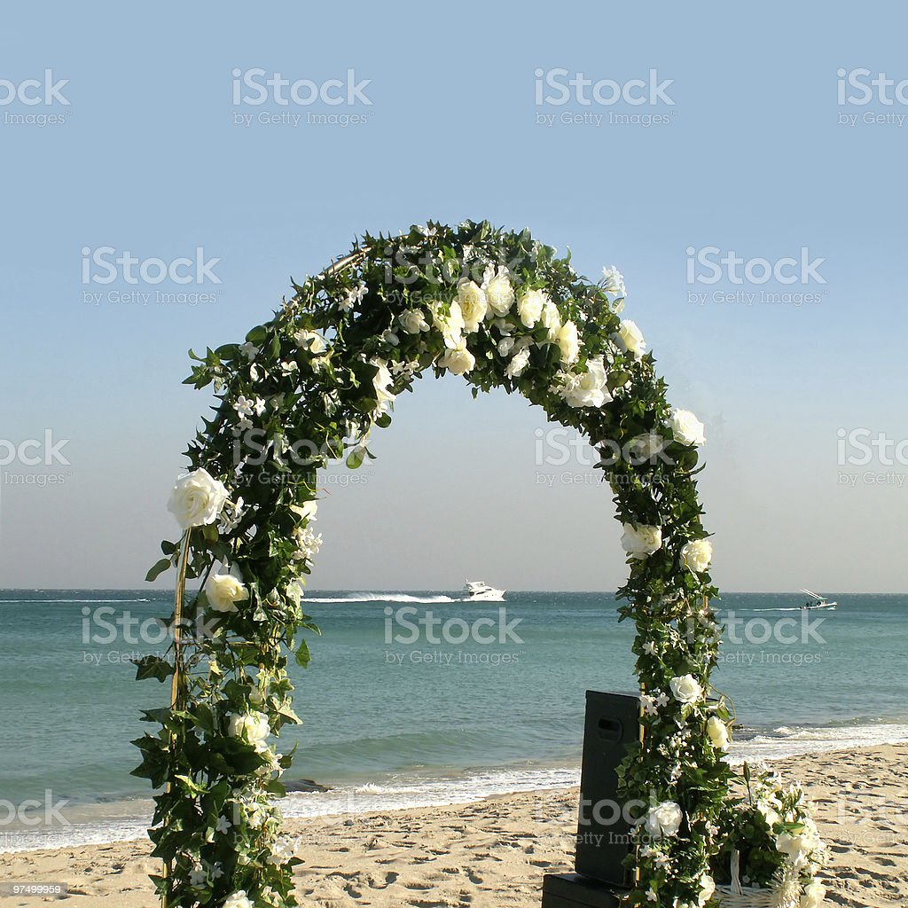 Wedding arc of flowers royalty-free stock photo