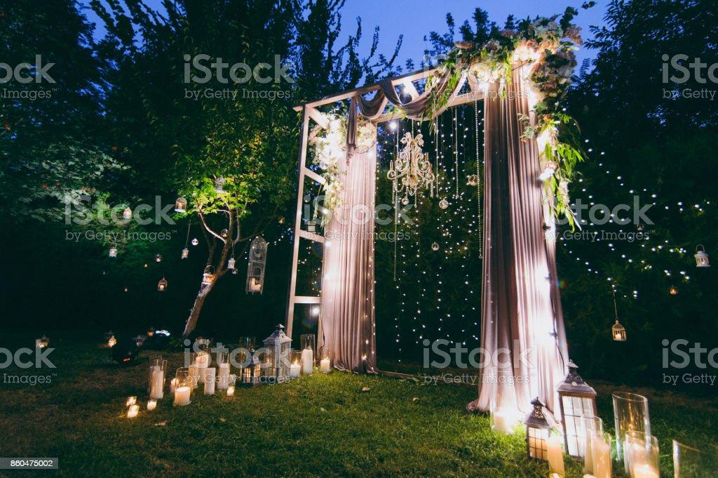 Bogen Hochzeitszeremonien Stock Fotografie Und Mehr Bilder Von Blau