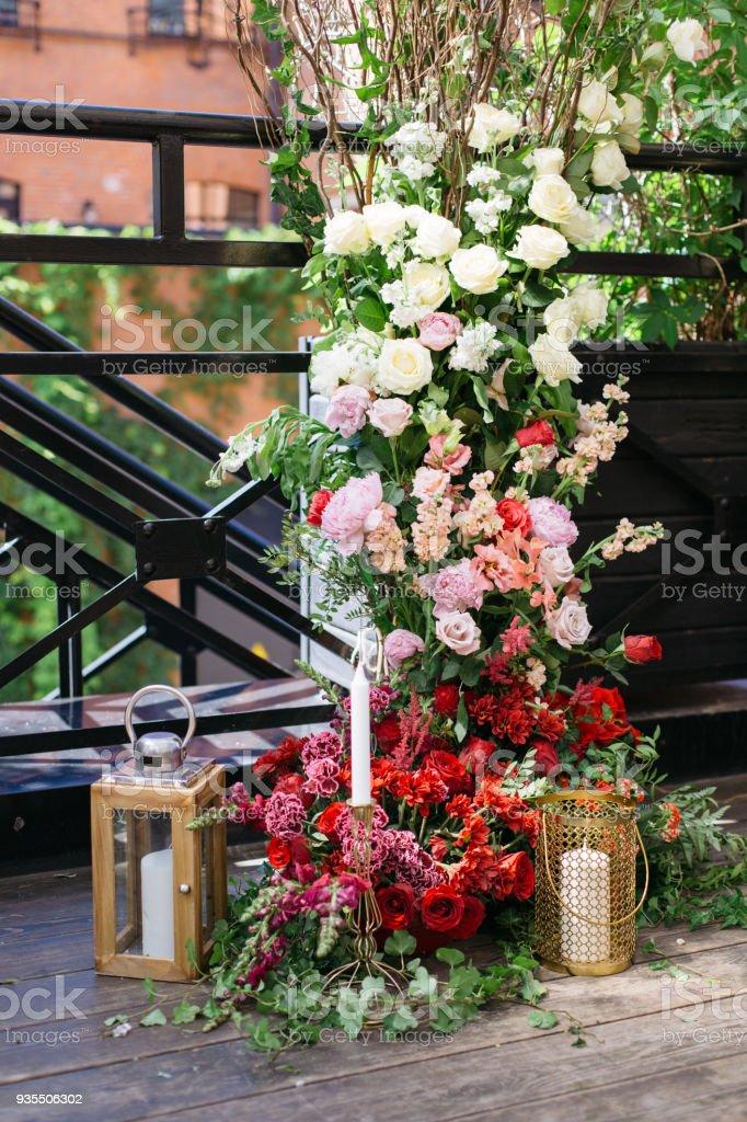 Wedding flower decoration concept.