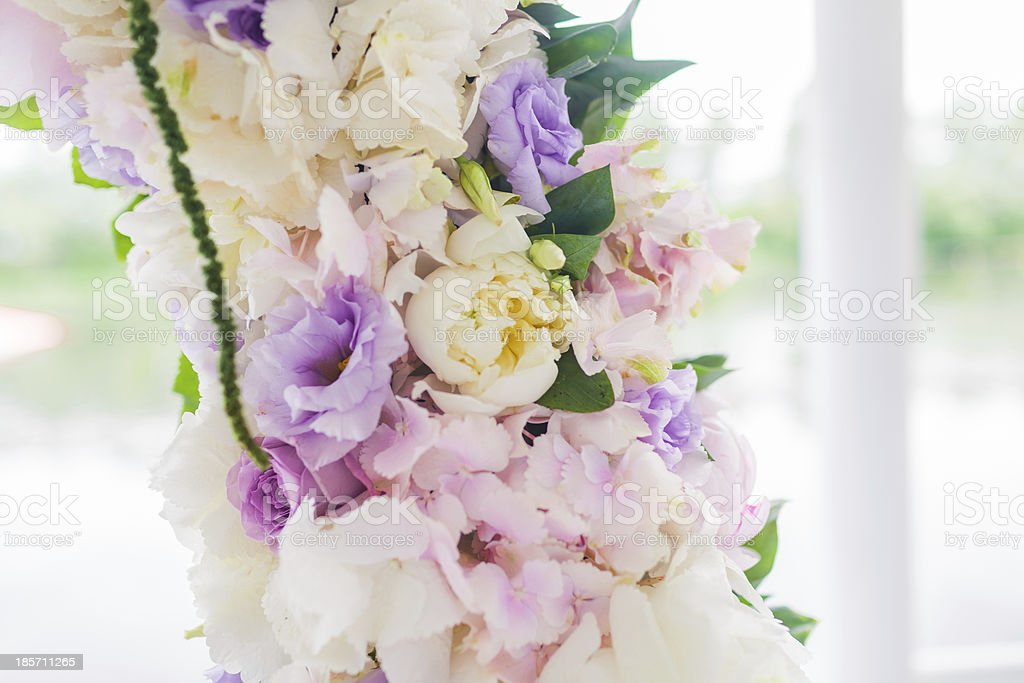 wedding arch with closeup detail royalty-free stock photo