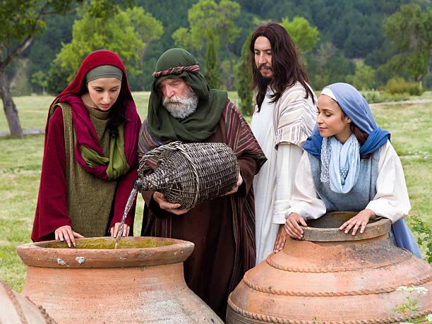 wedding at cana bible scene - 大比大 聖經人物 個照片及圖片檔