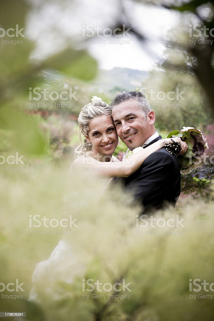 wedding at the garden royalty-free stock photo