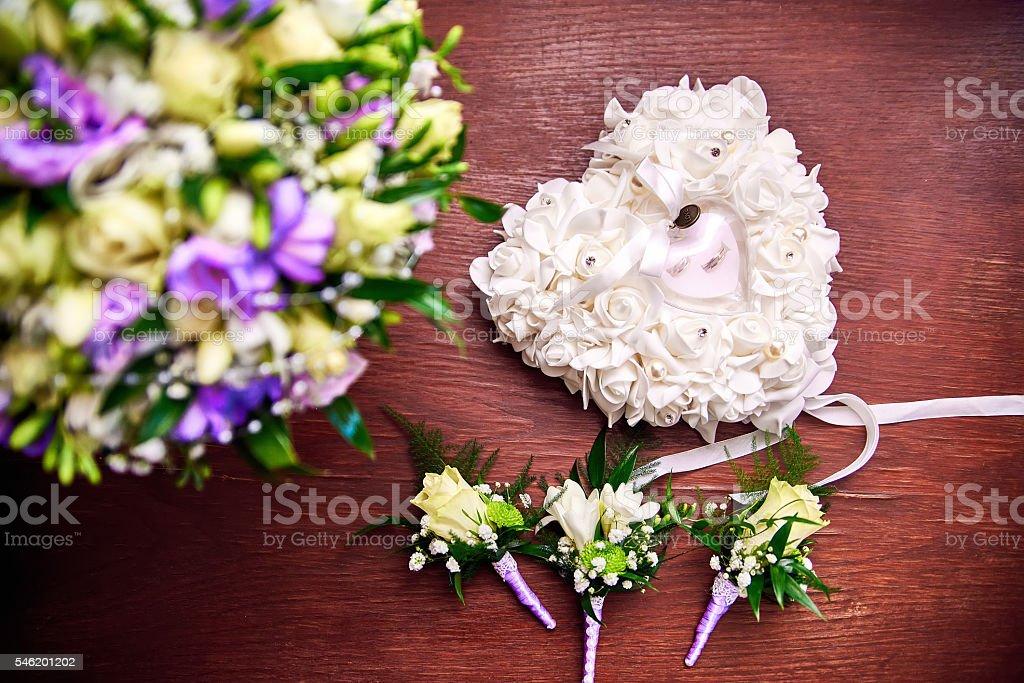 Wedding attributes. stock photo