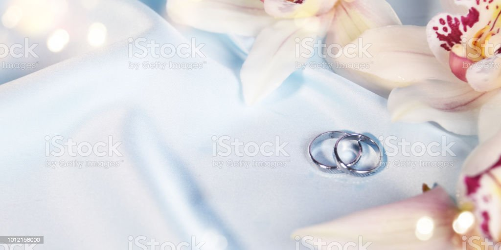 Wedding Background With Rings Stock Photo Download Image Now