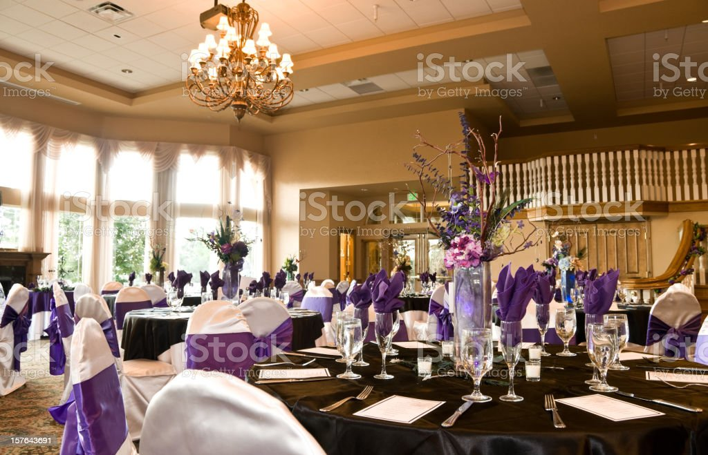 wedding ballroom hall stock photo
