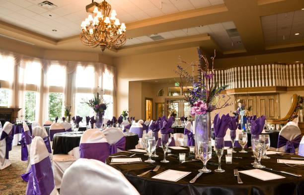 wesele sala balowa hall - sala balowa zdjęcia i obrazy z banku zdjęć