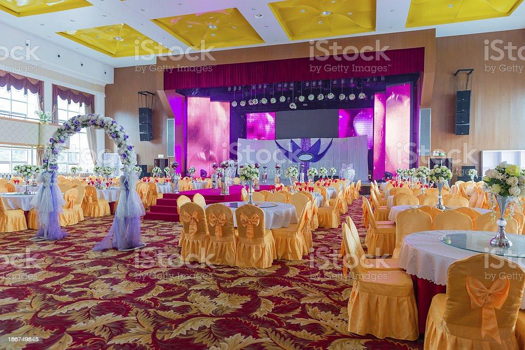 Salón de fiestas de boda - foto de stock