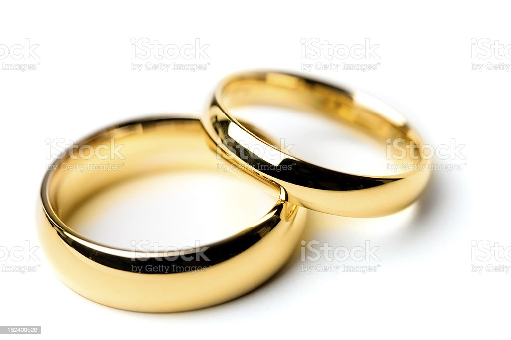 Wedding bands stock photo