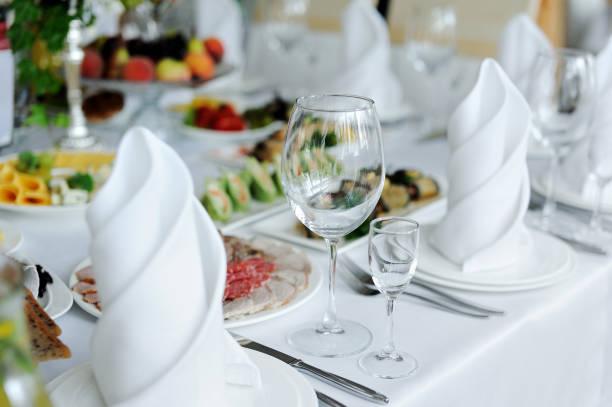 wedding banquet in restaurant stock photo