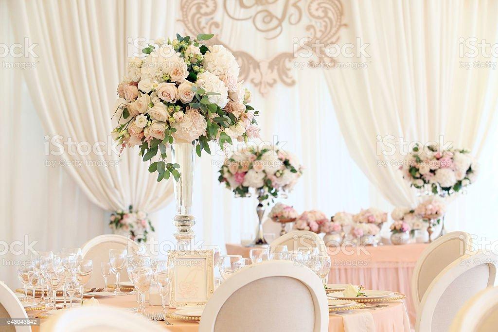 Свадебный банкет stock photo