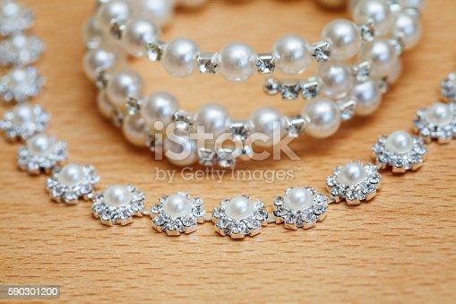 Wedding Bijouterie Of A Bride On Table Closeup-foton och fler bilder på Amulett