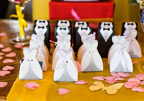 Matrimonio bonbonniere per gli ospiti - foto stock