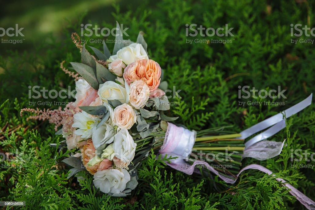 Wedding bouquet. Bride's flowers royalty-free stock photo