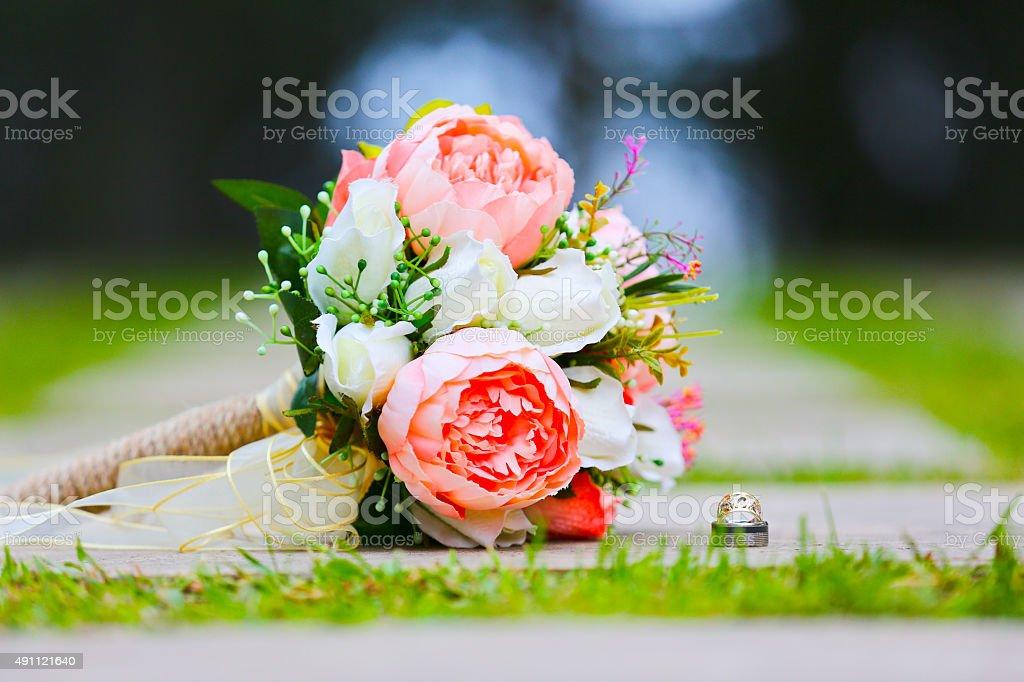 wedding bouquet, flowers, roses, beautiful bouquet stock photo