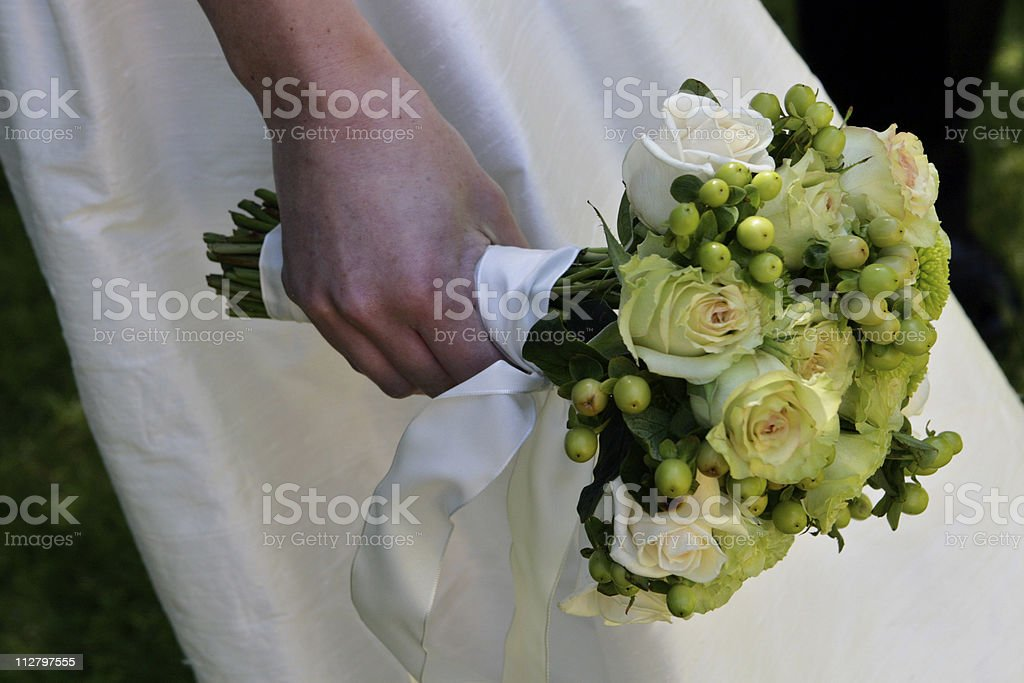 Wedding Bouquet greens royalty-free stock photo