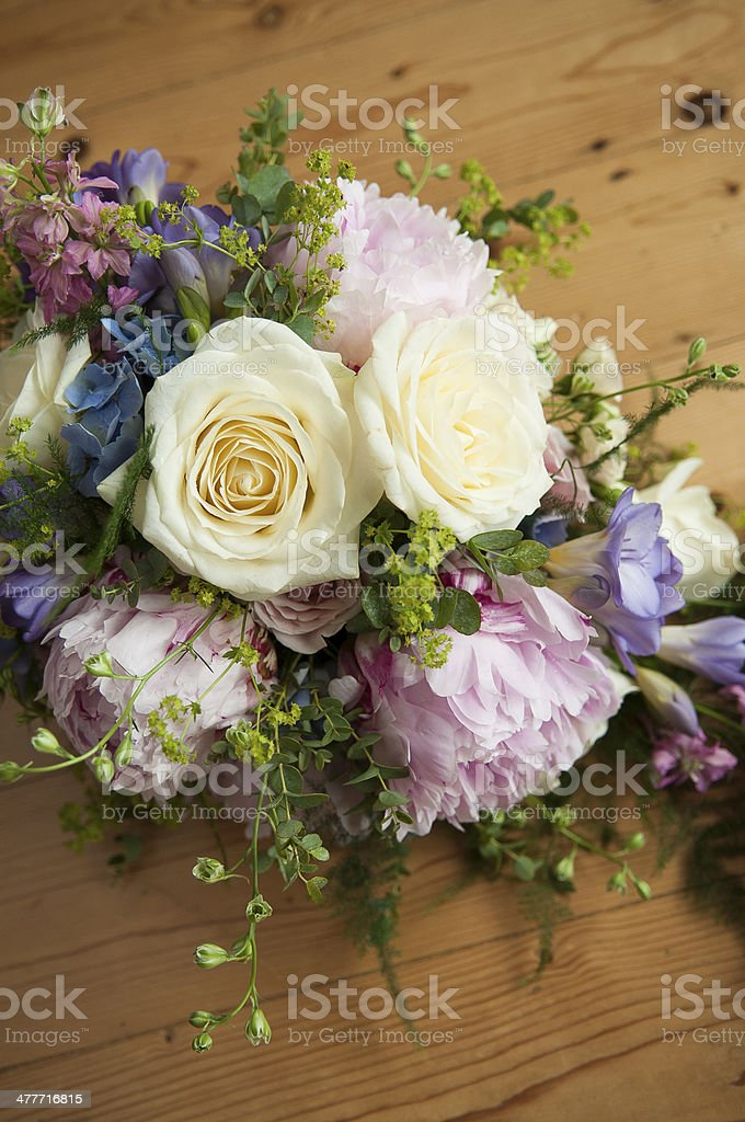 Wedding Bouquet of Roses royalty-free stock photo