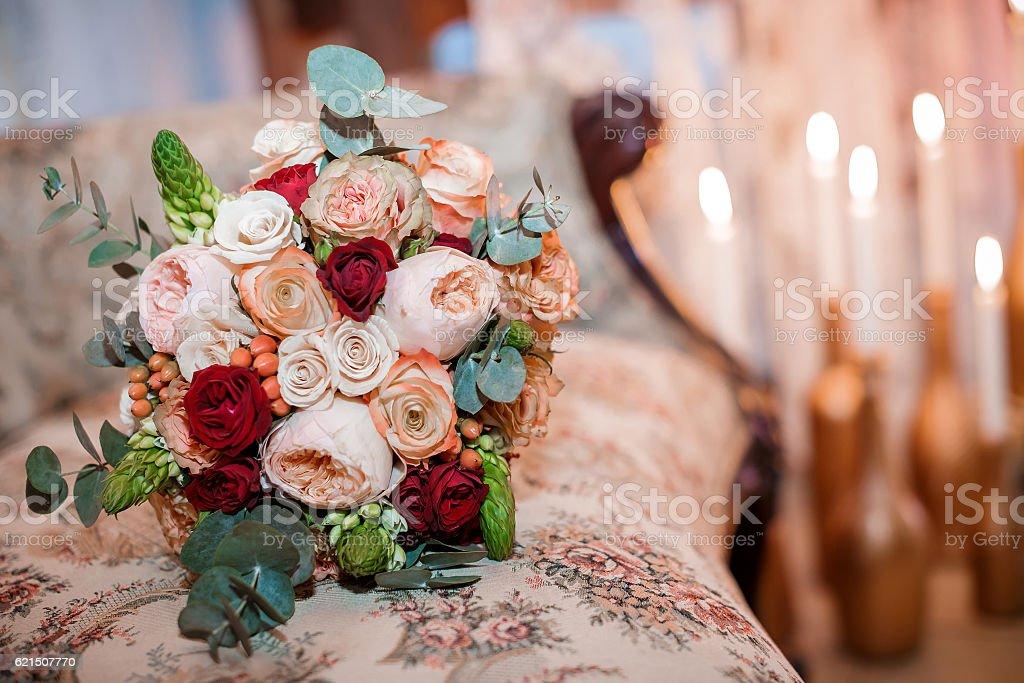 bouquet da sposa di rose foto stock royalty-free