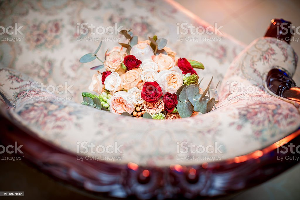 Mariage bouquet de roses photo libre de droits