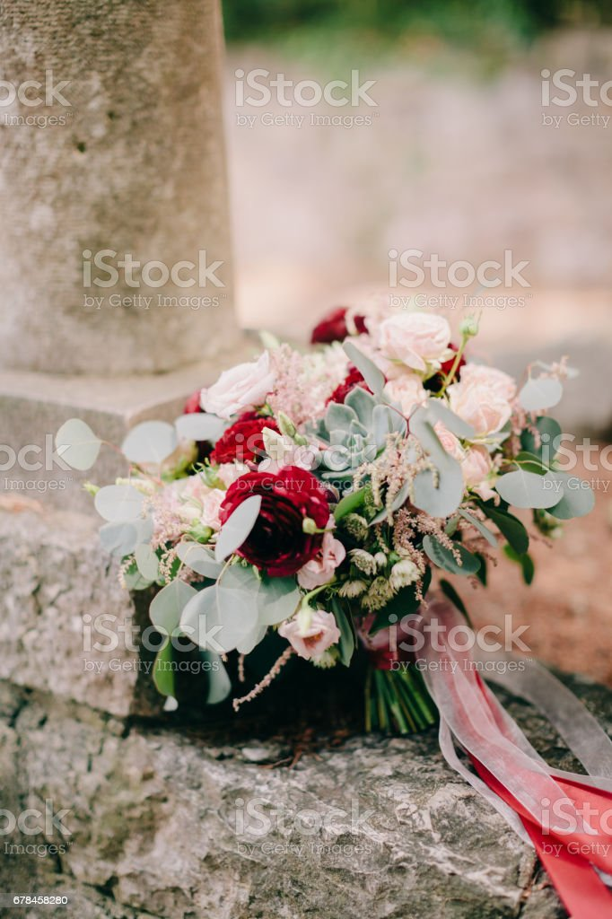 wedding bouquet  peonies and roses royalty-free stock photo