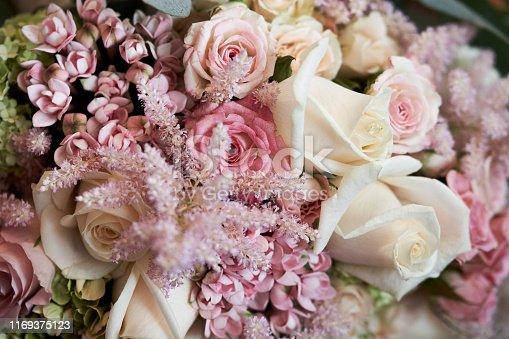 Wedding bouquet full of flowers