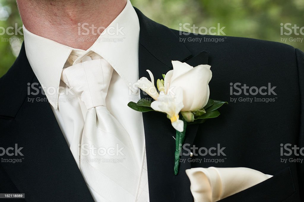 Wedding Boutonniere royalty-free stock photo