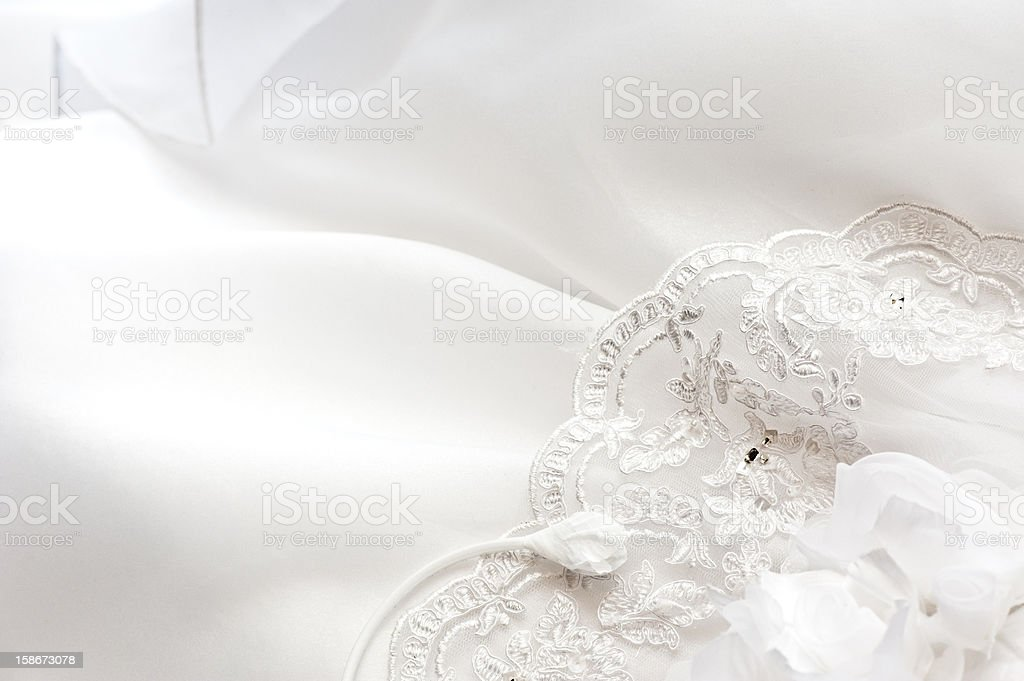 Wedding Bride Dress Close Up stock photo