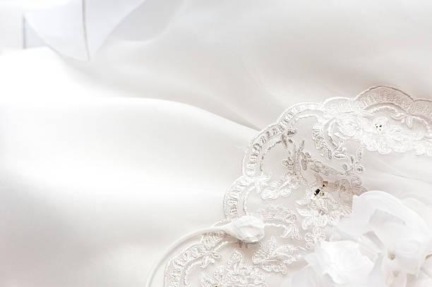 Wedding Bride Dress Close Up stock photo