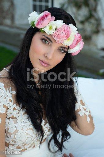 506798692istockphoto Wedding bride in outdoor 1140114694