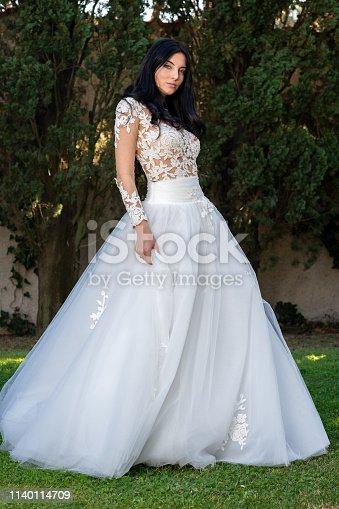 506798692istockphoto Wedding bride in outdoor 1140114709