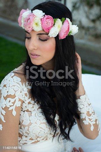 506798692istockphoto Wedding bride in outdoor 1140115319