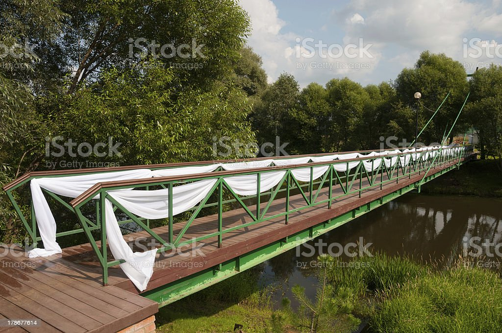 Wedding bridge royalty-free stock photo