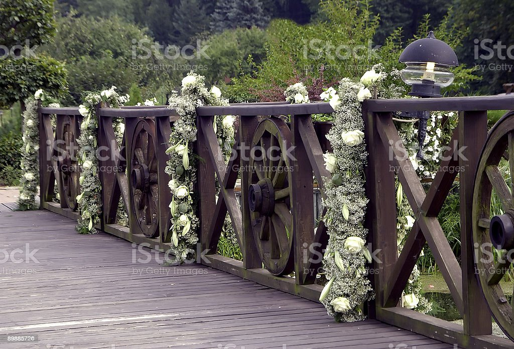 wedding bridge royalty-free stock photo