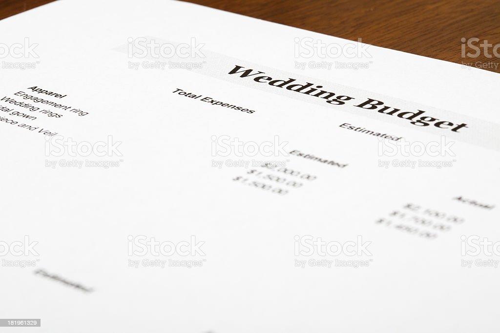 Wedding budget royalty-free stock photo