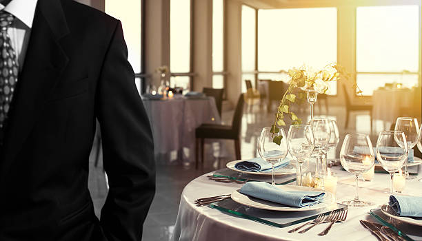 wedding business table setting - foto stock