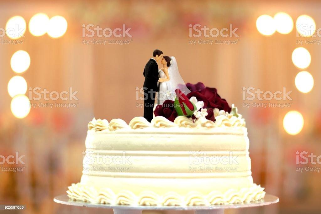 Hochzeitstorte Brautpaar Deckel Stock Fotografie Und Mehr Bilder Von