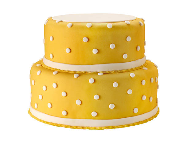 wedding cake +clipping path (click for more) - birthday cake stock photos and pictures