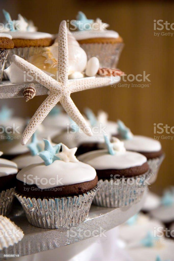 Photo De Stock De Wedding Cake Cupcake Tour Avec Theme Detoile De