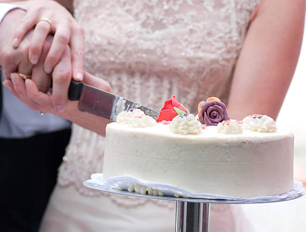 Royalty Free Gay Marriage Cutting Cake Together Pictures Images And