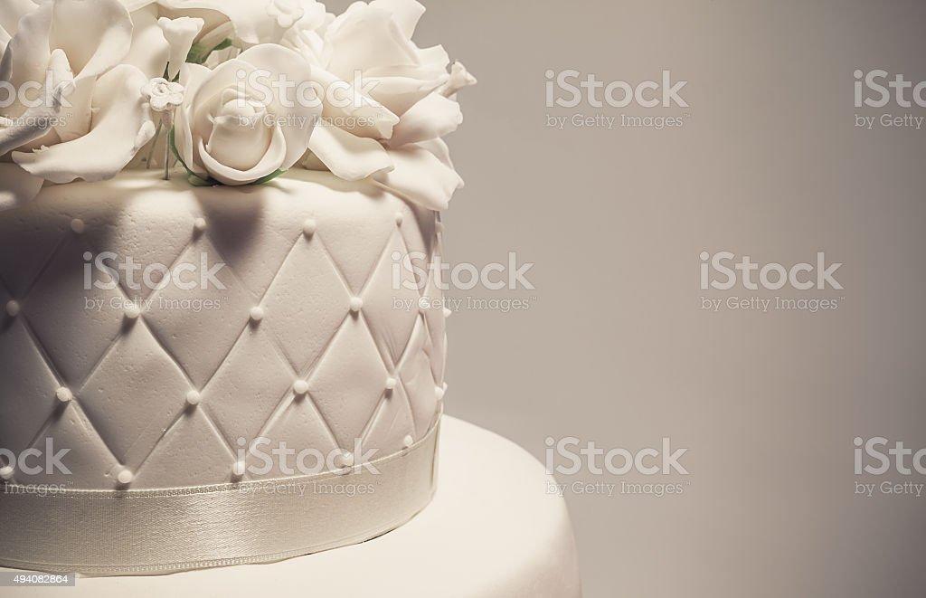 Decoração de bolo de casamento - foto de acervo