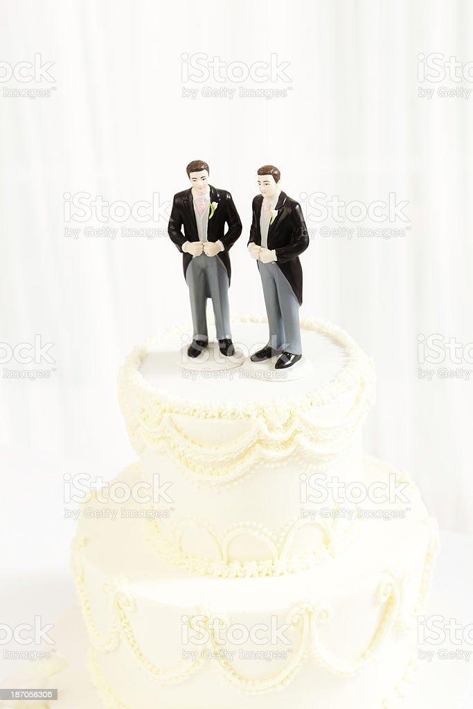 Hochzeitstorte Mit Gleichen Geschlechts Schwule Hochzeit Vertikal