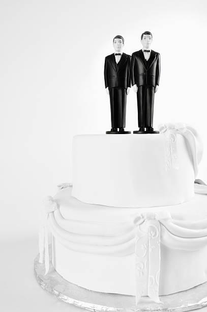 Wedding Cake Gay Couple stock photo