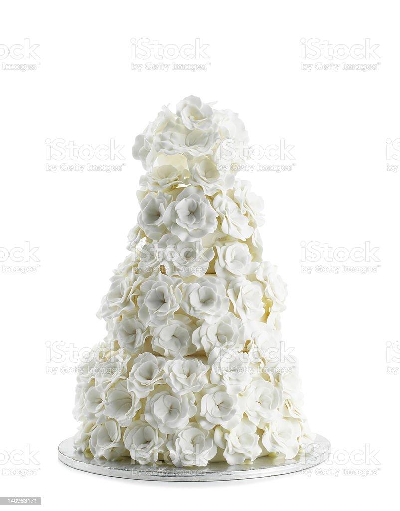 Wedding Cake Isolated On White Background stock photo