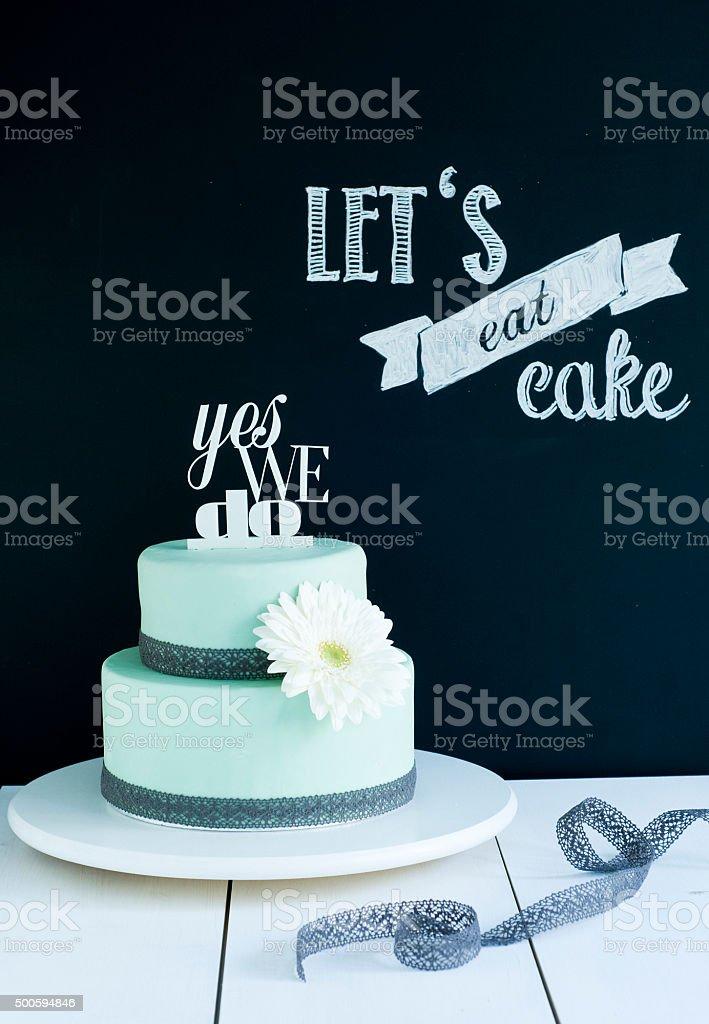 Hochzeitstorte Mint Ja – Foto