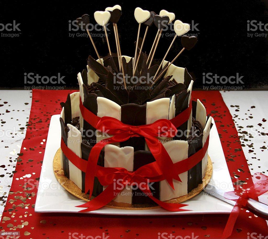 버스데이 또는 웨딩 케이크 royalty-free 스톡 사진