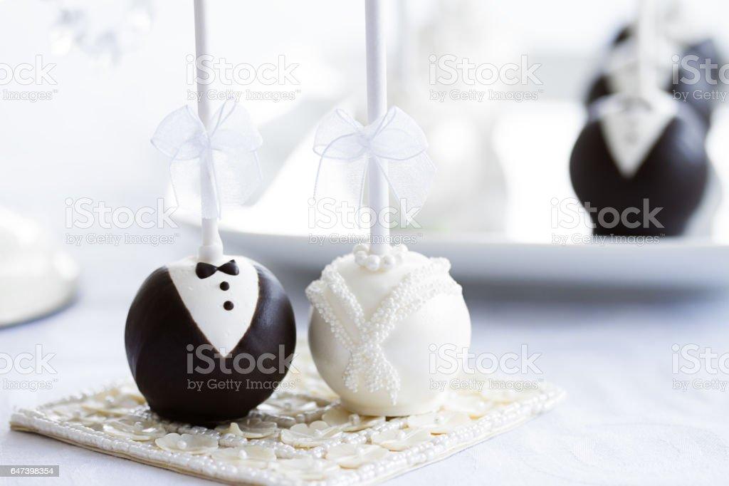 Bolo de casamento pops - foto de acervo