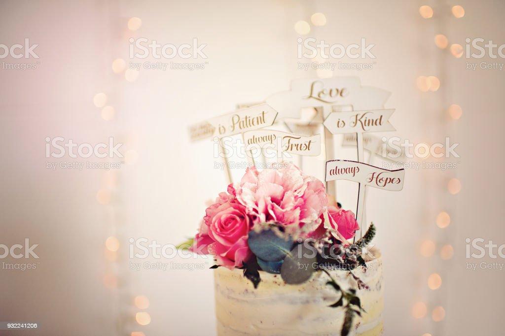 Photo Libre De Droit De Gateau De Mariage Rose Garniture
