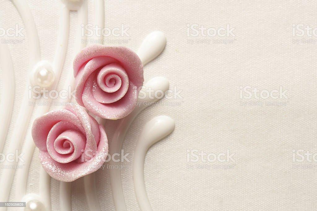 wedding cake roses royalty-free stock photo