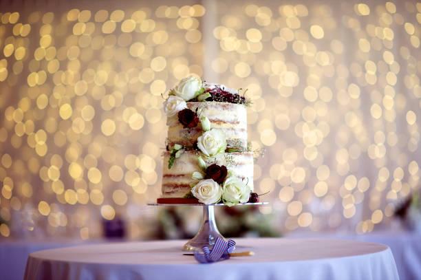 Wedding Cake String Lights stock photo