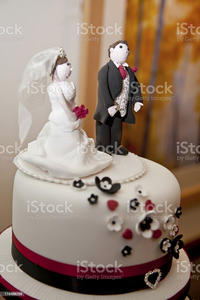 Wedding Cake Top With Bride And Groom Figures Stock Photo Download Image Now Istock