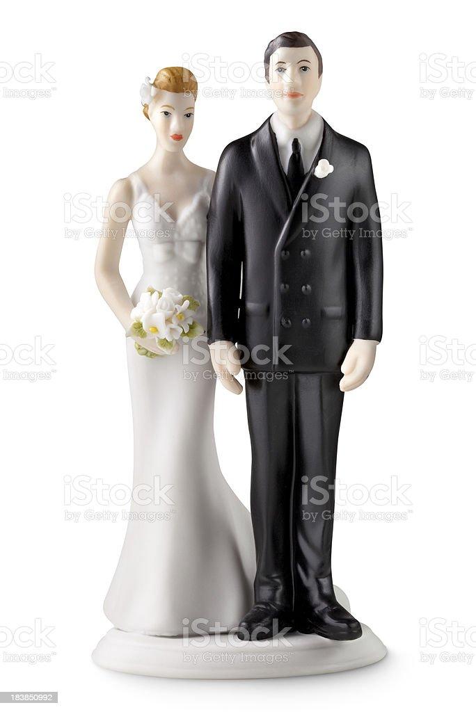 Wedding cake topper stock photo